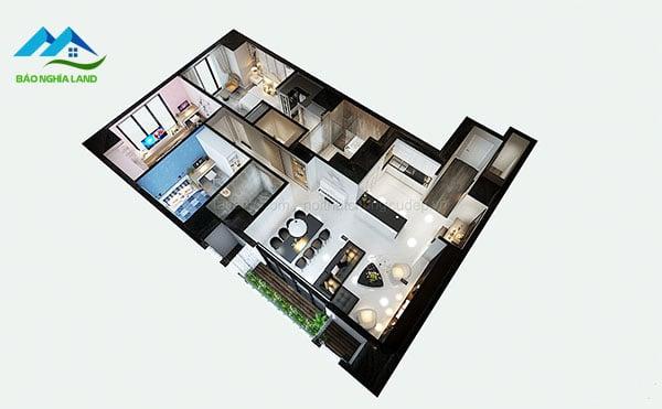 Ban ve noi that can ho cc tong the 3D - Chi phí hoàn thiện nội thất căn hộ quy trình báo giá trọn gói