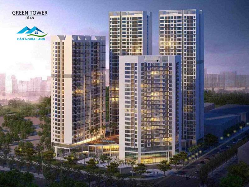 Green Tower Green Square Dĩ An City Bình Dương Căn hộ compressed 1 1024x768 1 - #1 Cập nhật danh sách dự án căn hộ chung cư tại Dĩ An Bình Dương