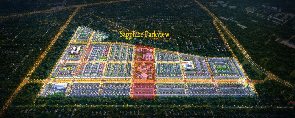 PHAN KHU Sapphire Parkview 1024x411 - Sơ đồ chi tiết mặt bằng phân lô các phân khu dự án Gem Sky World