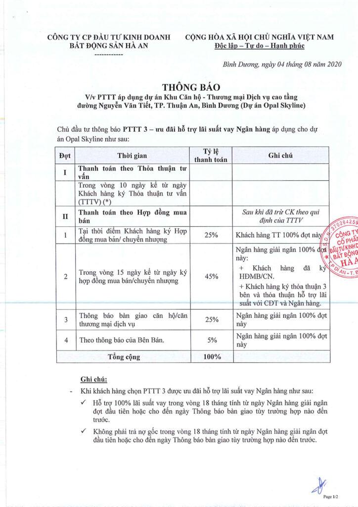 PTTT 3 uu dai lai suat ngan hang 724x1024 - Đánh giá dự án căn hộ Opal Skyline Đất Xanh có nên mua hay không?