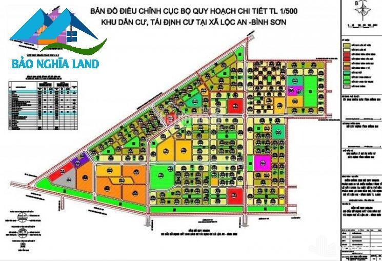 ban do chi tiet 1 tren 500 khu tai dinh cu loc an binh son - Khu tái định cư sân bay Long Thành - hình thức cấp đất giá thuế