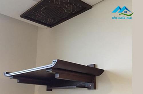 ban tho treo tuong - Bố trí bàn thờ trong căn hộ chung cư phong thủy rước tài lộc
