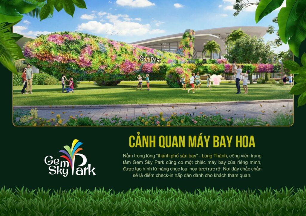 canh quan may bay hoa 1024x723 - Khám phá trải nghiệm công viên giải trí và vui chơi Gem Sky Park