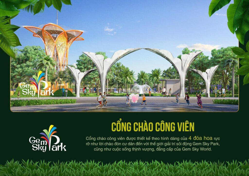 cong chao cong vien sky park 1024x723 - Khám phá trải nghiệm công viên giải trí và vui chơi Gem Sky Park