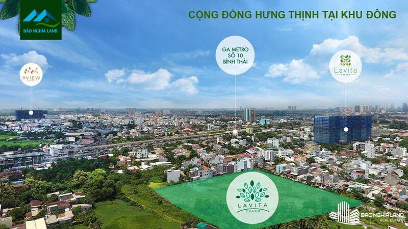 cong dong hung thinh khu dong - Dự án căn hộ Lavita Charm TP Thủ Đức cập nhật tiến độ mới nhất