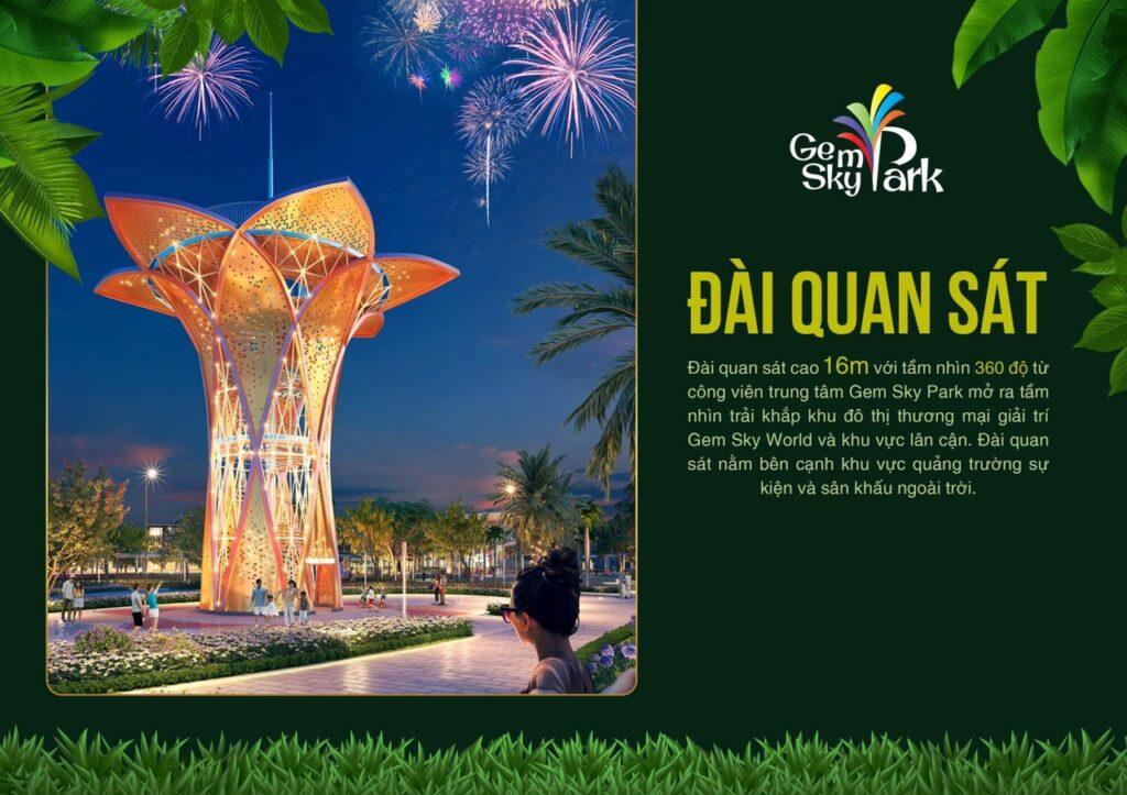 dai quan sat sky park 1024x723 - Khám phá trải nghiệm công viên giải trí và vui chơi Gem Sky Park
