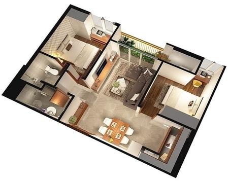 dien tich thong thuy can ho - Cách tính diện tích căn hộ chung cư theo cục quản lý nhà năm 2021