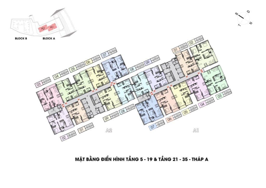 dien tich tim tuong 1024x723 - Cách tính diện tích căn hộ chung cư theo cục quản lý nhà năm 2021