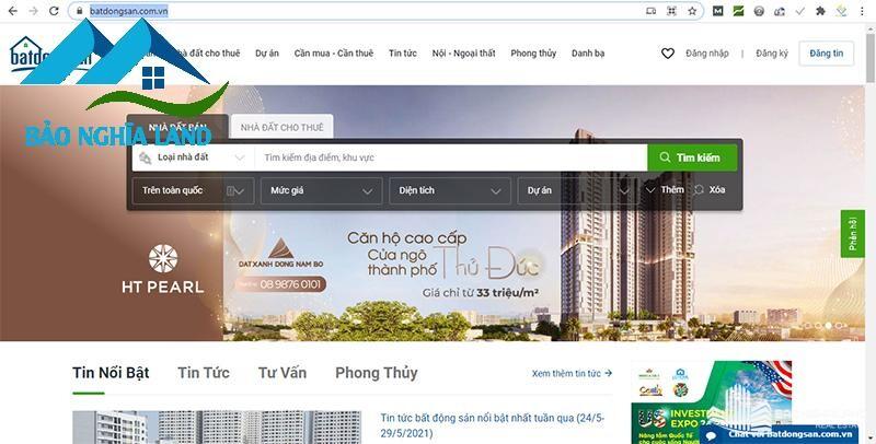 giao dien trang web mua ban bat dong san com - Danh sách trang web mua bán nhà đất uy tín hiệu quả nhất 2021