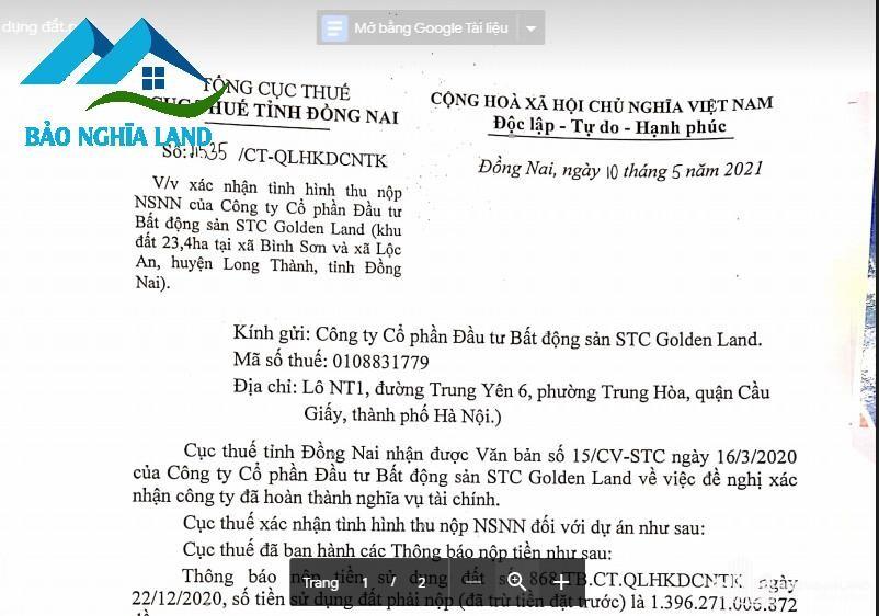 hoan thanh nghia vu dong tien su dung dat - Dự án STC Long Thành kế bên khu tái định cư sân bay Long Thành
