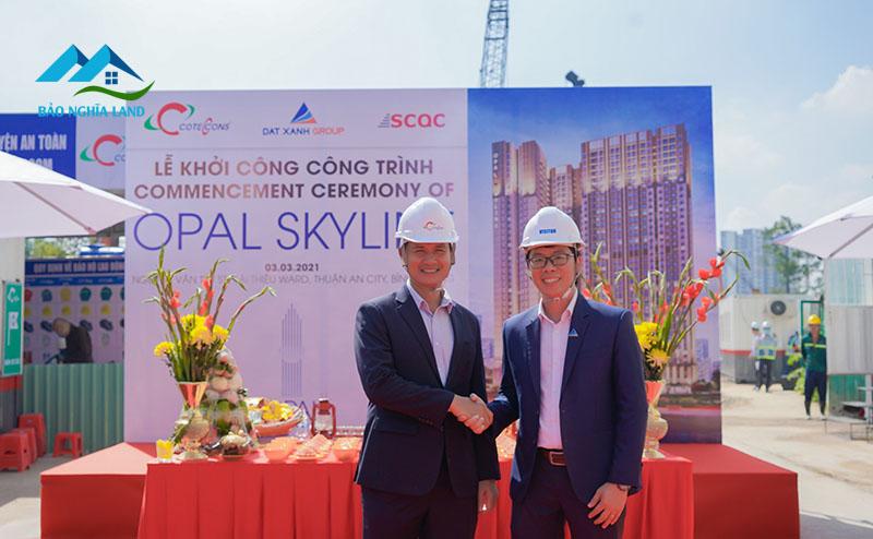 khoi cong du an opal skyline - Lễ khởi công dự án Opal Skyline Chủ Đầu tư Đất Xanh cùng nhà thầu Coteccons