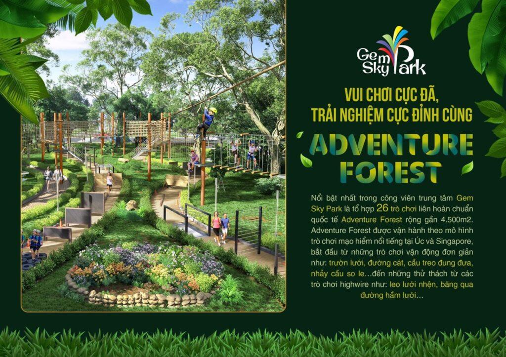 khu vui choi adventure forest 1024x723 - Khám phá trải nghiệm công viên giải trí và vui chơi Gem Sky Park