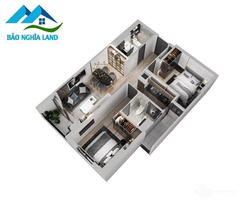 mat bang can ho 2 - Dự án căn hộ Tecco Felice Home Bình Dương Đất Xanh phân phối