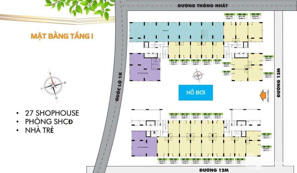 mat bang tang 1 du an can ho bcons plaza 1024x597 - Dự án căn hộ Bcons Plaza Dĩ An cập nhật thông tin giá bán 2021