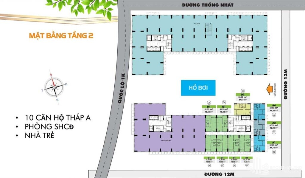 mat bang tang 2 du an can ho bcons plaza 1024x597 - Dự án căn hộ Bcons Plaza Dĩ An cập nhật thông tin giá bán 2021