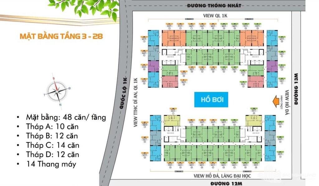 mat bang tang 3 28 du an can ho bcons plaza 1024x597 - Dự án căn hộ Bcons Plaza Dĩ An cập nhật thông tin giá bán 2021