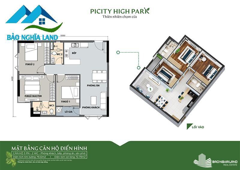 mat bang thiet ke can ho 3pn picity - Tổng quan dự án căn hộ Picity High Park Quận 12 - [ 0936553693 ]