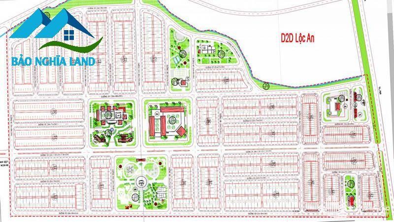 mat bang tong quan thiet ke d2d loc an long thanh - Tổng Quan dự án D2D Lộc An - Khu dân cư cửa ngõ sân bay Long Thành