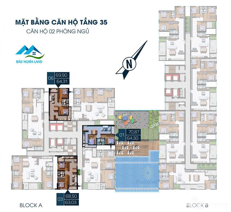 mat bang phu dong premier block a 2pn tang 35 - Dự án căn hộ phú đông premier tổng quan dự án giá bán và cho thuê