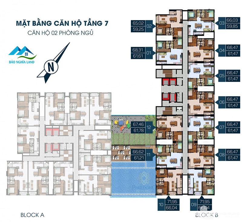 mat bang phu dong premier block b tang 7 den 34 - Dự án căn hộ phú đông premier tổng quan dự án giá bán và cho thuê