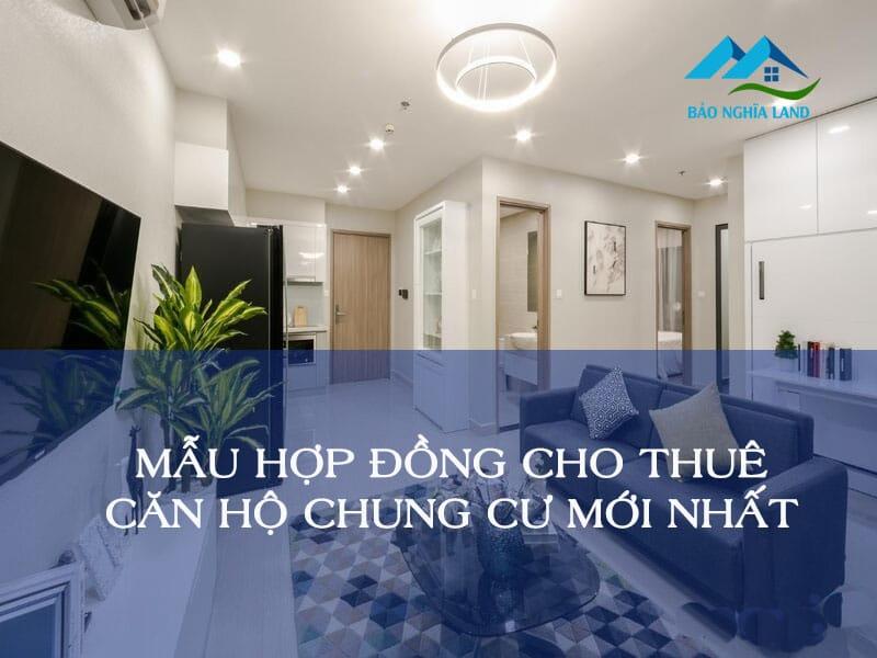 mau hop dong cho thue can ho chung cu - Mẫu hợp đồng thuê căn hộ chung cư mới và chuẩn nhất 2021