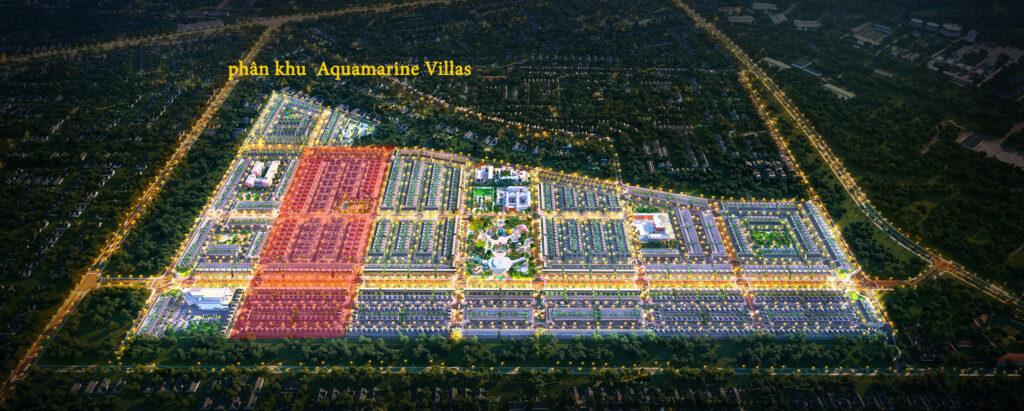 phan khu Aquamarine Villas 1024x411 - Sơ đồ chi tiết mặt bằng phân lô các phân khu dự án Gem Sky World
