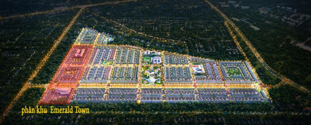 phan khu Emerald Town 1024x411 - Sơ đồ chi tiết mặt bằng phân lô các phân khu dự án Gem Sky World