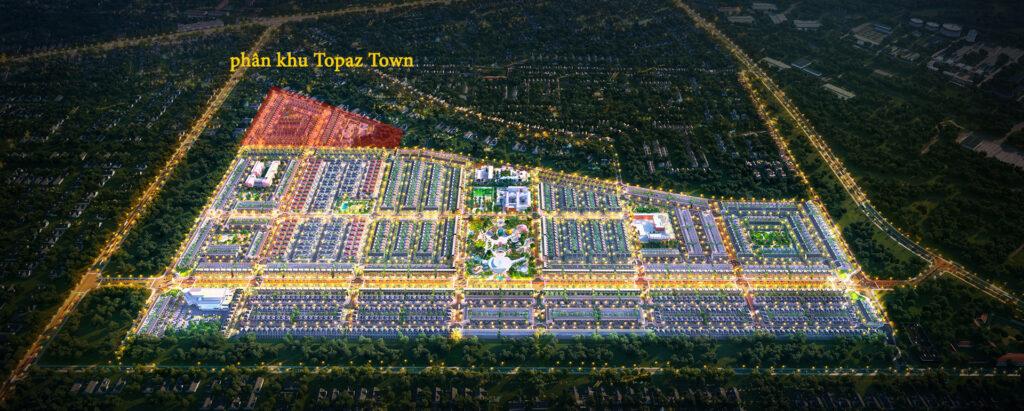 phan khu Topaz Town 1024x411 - Sơ đồ chi tiết mặt bằng phân lô các phân khu dự án Gem Sky World