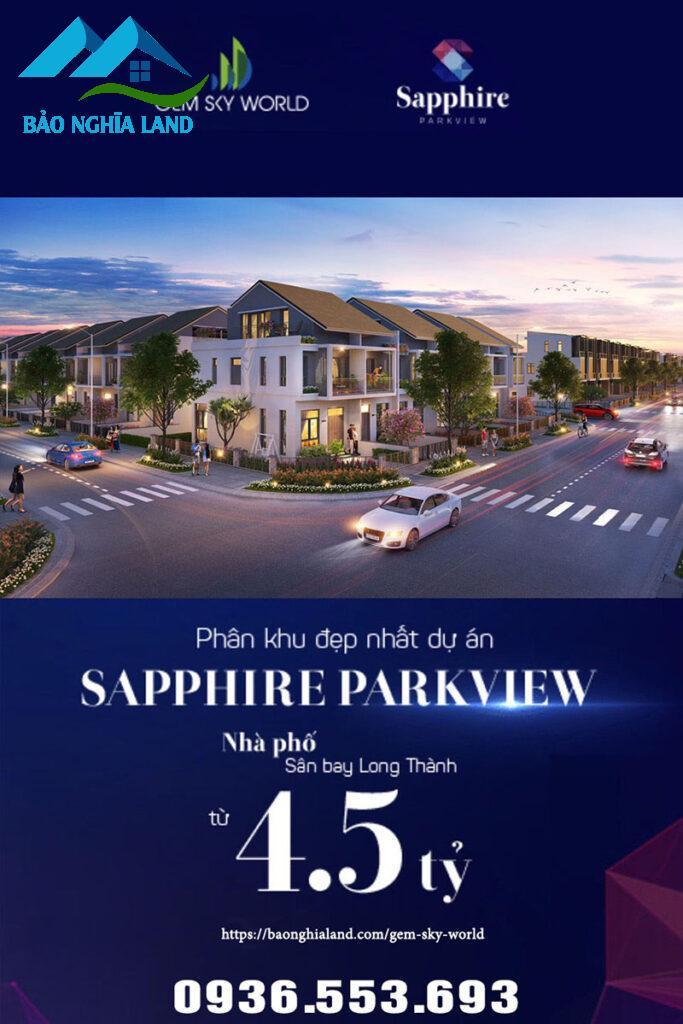 phan khu dep nhat du an sapphire 683x1024 - Cập nhật bảng giá và chính sách tháng 6/2021 nhà phố shophouse đất nền Gem Sky World