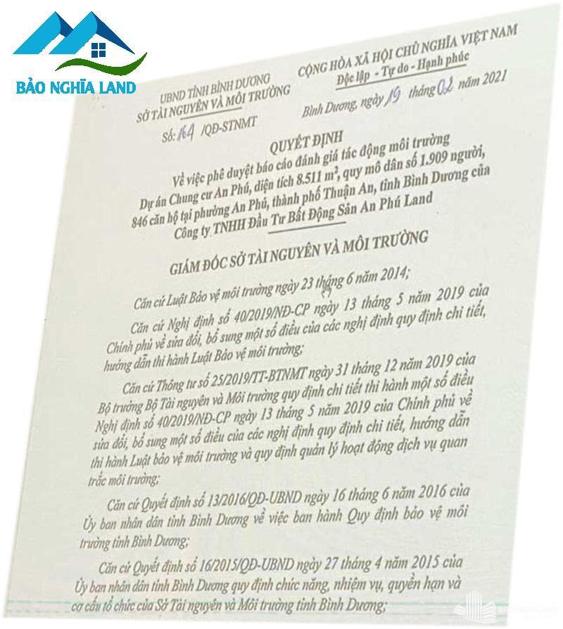 phap ly du an can ho tecco felice homes - Dự án căn hộ Tecco Felice Home Bình Dương Đất Xanh phân phối