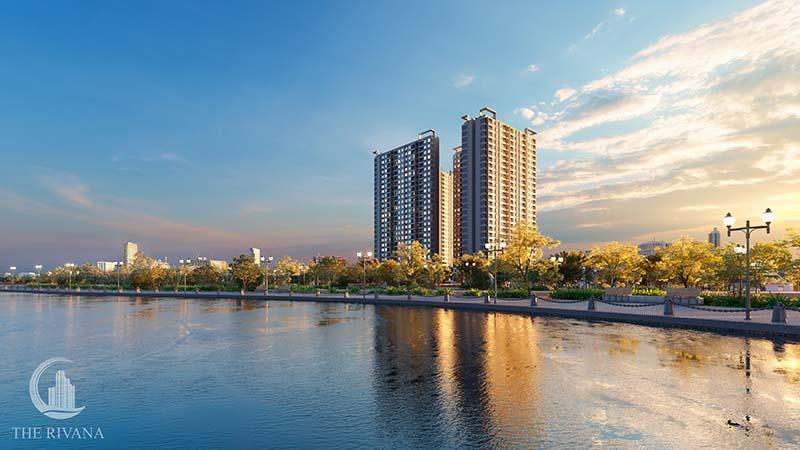 phoi canh du an the rivana - Danh sách căn hộ chung cư giá rẻ tại tp Thuận An Bình Dương