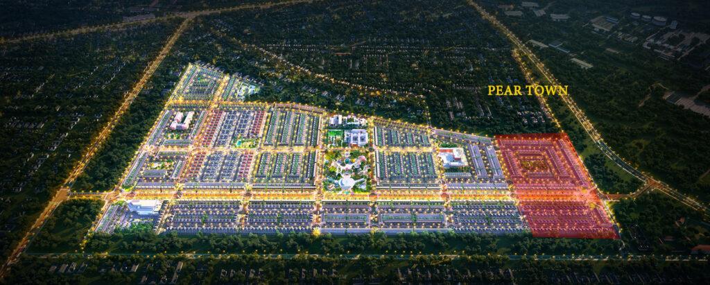 phoi canh gem sky world dem pear 1024x411 - Sơ đồ chi tiết mặt bằng phân lô các phân khu dự án Gem Sky World