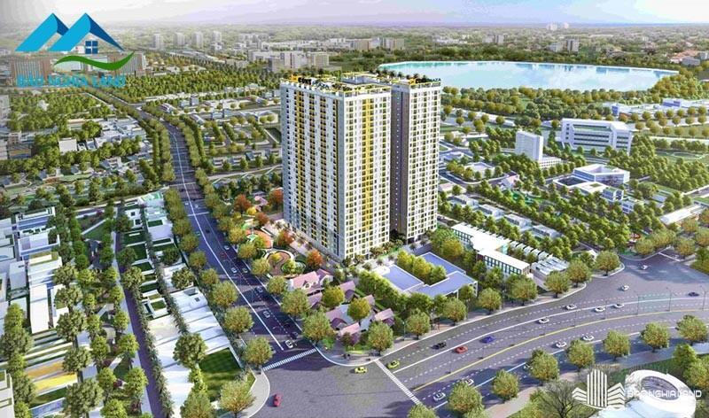 phoi canh bcons plaza 1 - Dự án căn hộ Bcons Plaza Dĩ An cập nhật thông tin giá bán 2021