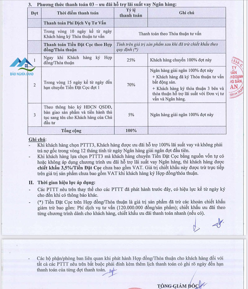 phuong thuc thanh toan vay ngan hang gem sky world1 - Phương thức thanh toán dự án Gem Sky World Đất Xanh