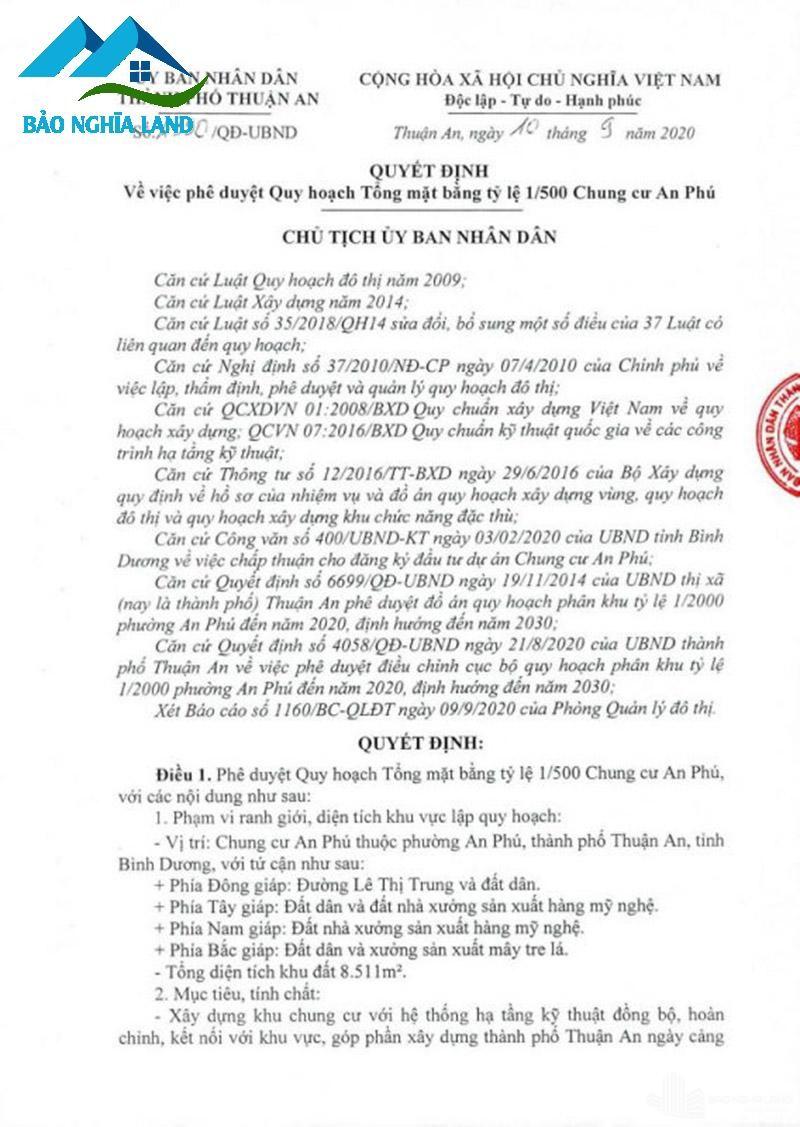 quy hoach 1 500 tecco felice homes Copy - Dự án căn hộ Tecco Felice Home Bình Dương Đất Xanh phân phối