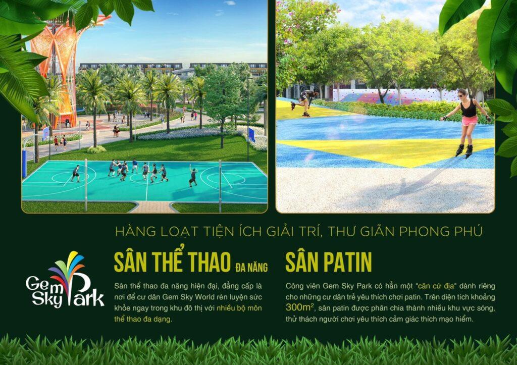 san the thao gem sky park 1024x723 - Khám phá trải nghiệm công viên giải trí và vui chơi Gem Sky Park