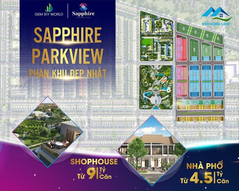 shophouse sapphire parkview - Cập nhật bảng giá và chính sách tháng 6/2021 nhà phố shophouse đất nền Gem Sky World