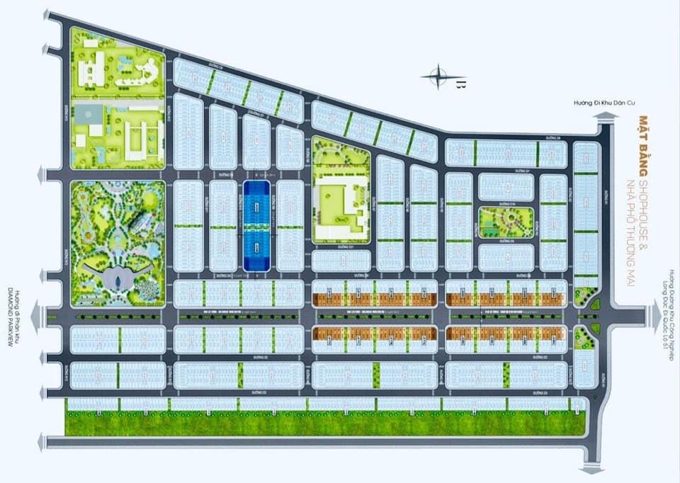 so do mat bang shophouse gem sky world - Sơ đồ chi tiết mặt bằng phân lô các phân khu dự án Gem Sky World