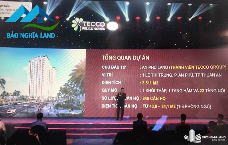 su kien cong bo du an can ho tecco felice home - Dự án căn hộ Tecco Felice Home Bình Dương Đất Xanh phân phối