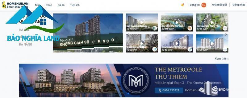 tran mua ban bat dong san home hub - Danh sách trang web mua bán nhà đất uy tín hiệu quả nhất 2021