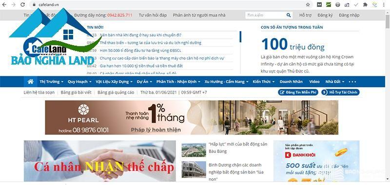 trang tin bat dong san cafeland - Danh sách trang web mua bán nhà đất uy tín hiệu quả nhất 2021