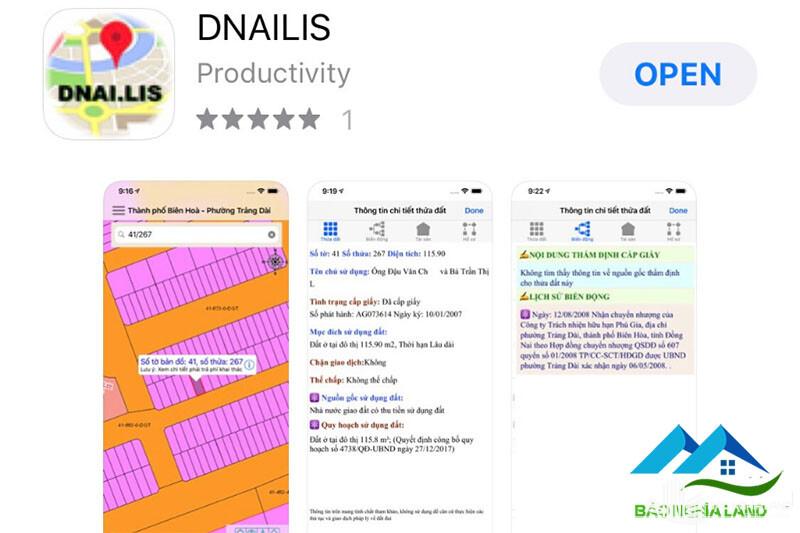 ung dung dong nailis - Dnailis ứng dụng bản đồ quy hoạch online đất đai tỉnh Đồng Nai