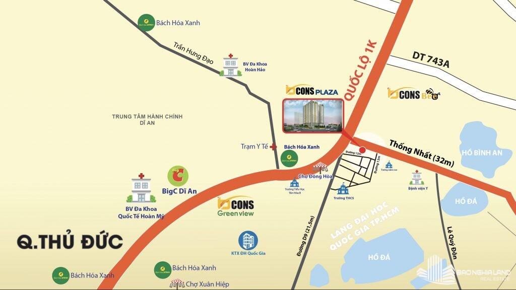 vi tri bcons plaza - Dự án căn hộ Bcons Plaza Dĩ An cập nhật thông tin giá bán 2021