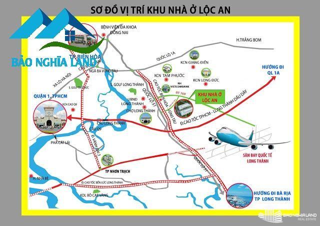 vi tri du an khu dan cu loc an - Tổng Quan dự án D2D Lộc An - Khu dân cư cửa ngõ sân bay Long Thành