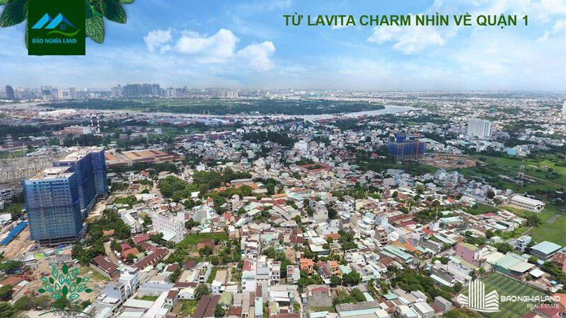 view nhin tu du an lavita charm quan 1 - Dự án căn hộ Lavita Charm TP Thủ Đức cập nhật tiến độ mới nhất