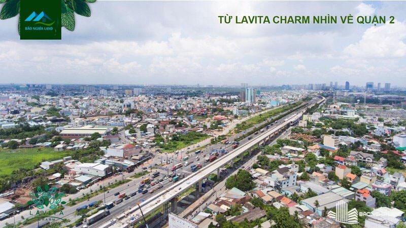 view nhin tu du an lavita charm quan 2 - Dự án căn hộ Lavita Charm TP Thủ Đức cập nhật tiến độ mới nhất