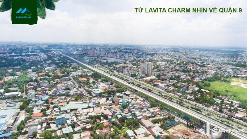 view nhin tu du an lavita charm quan 9 - Dự án căn hộ Lavita Charm TP Thủ Đức cập nhật tiến độ mới nhất